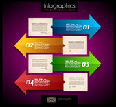 Infographic design - original paper tags — Stock Vector