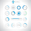 Set of Loading design elements — Stock Vector #20150961