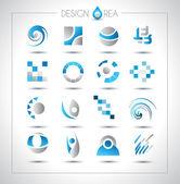 Insieme di elementi di design per il progetto — Vettoriale Stock