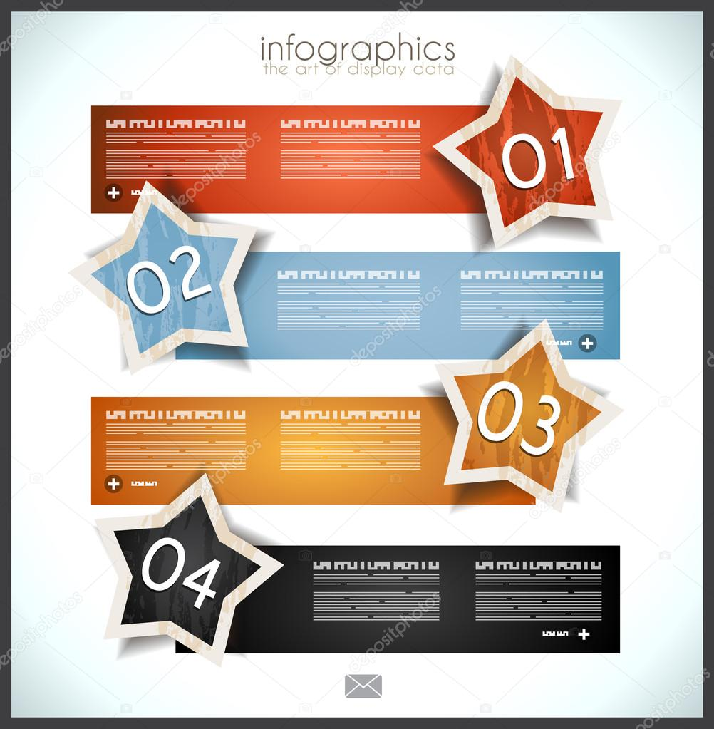 Infographic template design with paper tags Vector – Paper Design Template