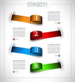 Infographic template design - Original geometrics — Stock Vector
