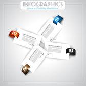 Infographic design - original geometrics — Stock Vector