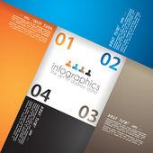 製品のランキングのためのインフォ グラフィック デザイン — ストックベクタ