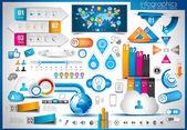 Infographik elemente - papier-tags festlegen — Stockvektor