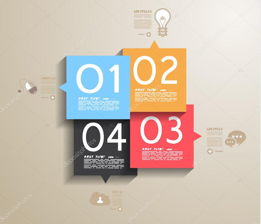 与纸标签信息图表设计模板