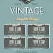 Vintage retro page template for covers — Stock Vector #22989606