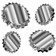 Stock Vector: Bottle caps or gears