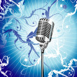 Old Microphone Music Background - Stock Vector