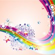 Absrtact Rainbow Stars Background - Stockvectorbeeld