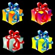 Gift boxes collecton - Stockvectorbeeld