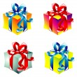 Gift boxes collecton — Stock Vector