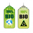 Recycling Green Tag Icons — Stock Vector