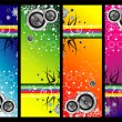 Grunge music banners - Stock Vector