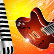 Guitar and Microphone - Imagen vectorial