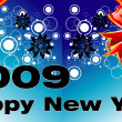Greetings 2009 card - Imagen vectorial
