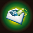 Green Important Email Icon - Stock Vector