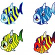 Cartoon Fishes - Stock Vector