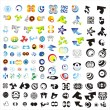 Set of 110 more logos — Stock Vector