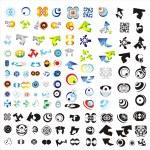 Set of 110 more logos — Stock Vector