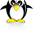 Stock Vector: Penguin Cartoon Style