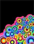 Stylish bubbles background — Stock Vector