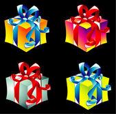 Gift boxes collecton — Stock Vector