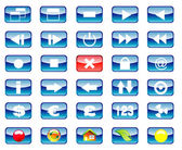 Multimedia and Various Icon set — Stock Vector