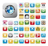 Conjunto de iconos utilidad brillante — Vector de stock