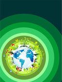 Environmetal konceptet bakgrund — Stockvektor