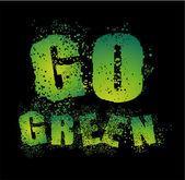 Go Green Card — Stock Vector