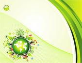 Çevre yeşil arka plan — Stok Vektör