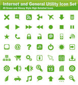 Web and Internet Icon Set — Stock Vector