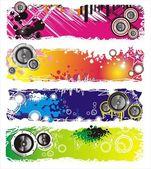 Grunge Style Music Banner — Stock Vector