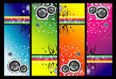 Grunge music banners — Stock Vector