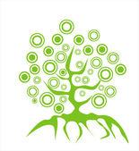 Grunge tree — Stock Vector