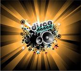 Music Disco Background — Stock Vector