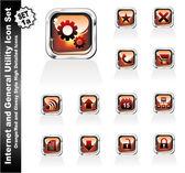Iconos de utilidad web e internet - sistema 1a — Vector de stock