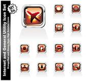Web ve internet yardımcı programı simgeler - set 2a — Stok Vektör