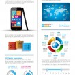 Modern Infographic with a touch screen smartphone — Stock Vector #23090704