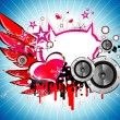 Music and Love background — Imagens vectoriais em stock