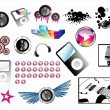 High quality detailed music icons - Image vectorielle