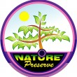 Preserving nature tree emblem — Stock Vector