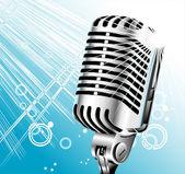 Retro singer microphone — Stock Vector