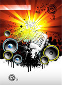 Müzik arka plan — Stok Vektör