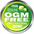 OGM free food emblem - Stock Vector