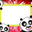 Funny Panda Frame - Stock Vector