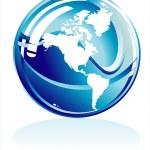 Blue world sphere — Stock Vector