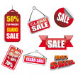 Discount Price tag set - Stock Vector