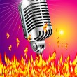 Flaming microphone — Stock Vector #23282144
