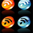 Постер, плакат: 3D Rss feed Icon